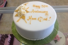 2437, 50th anniversary, fifty, mom and dad, white, orange, gold, flowers