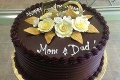 2477, brown, chocolate, 50th, fiftieth, roses, gold, flowers, 50, mom and dad