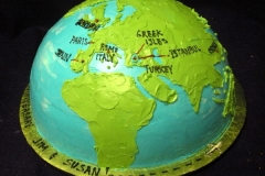 1997, anniversary, 40th, 40, world, globe, travel, earth, carved