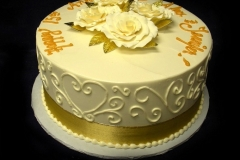 2525, white, gold, 50th, fiftieth, flowers, roses, hearts