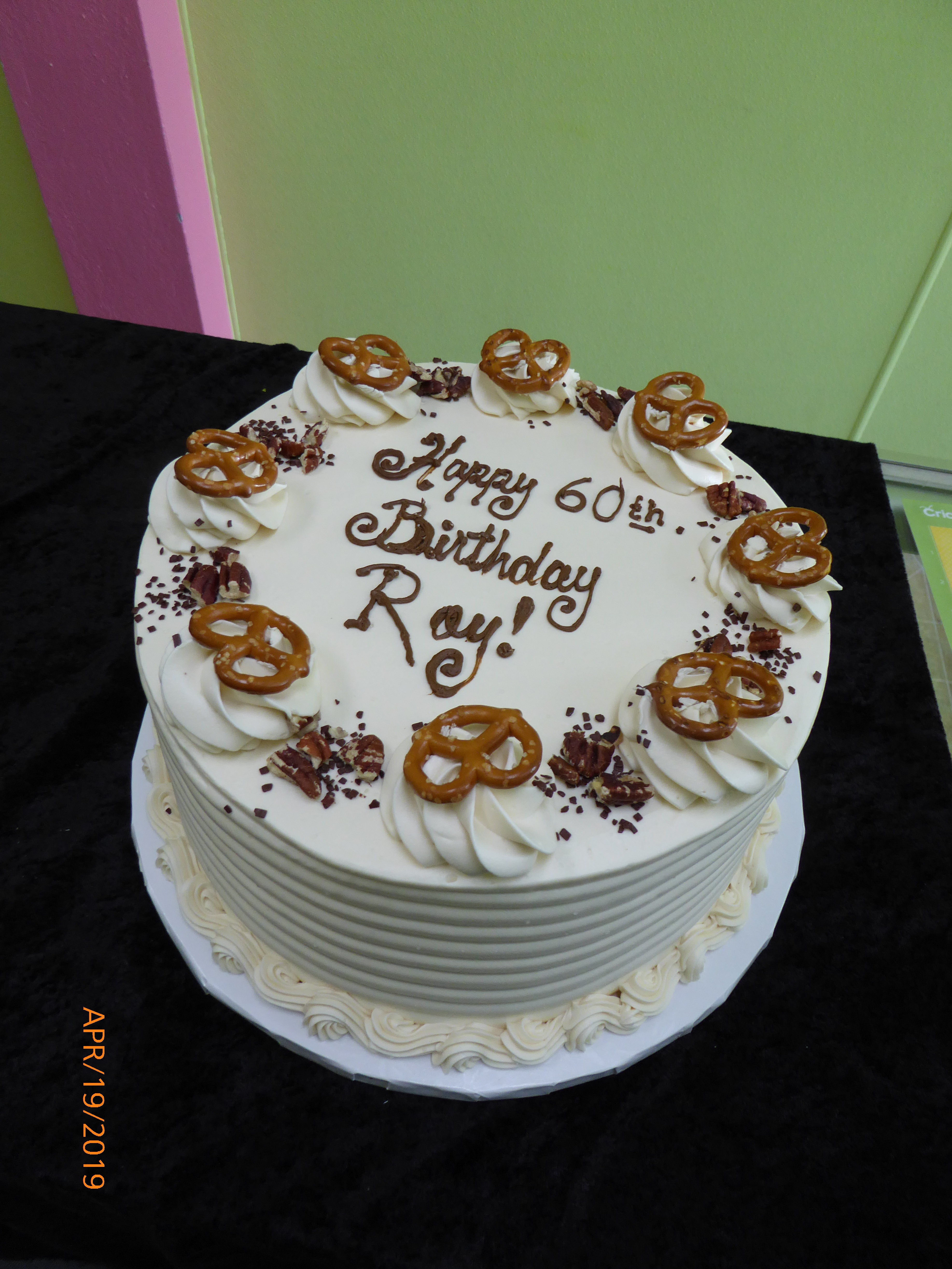 3317, 60th birthday, sixtieth birthday, pretzel, pretzels, chocolate, white, nut crunch