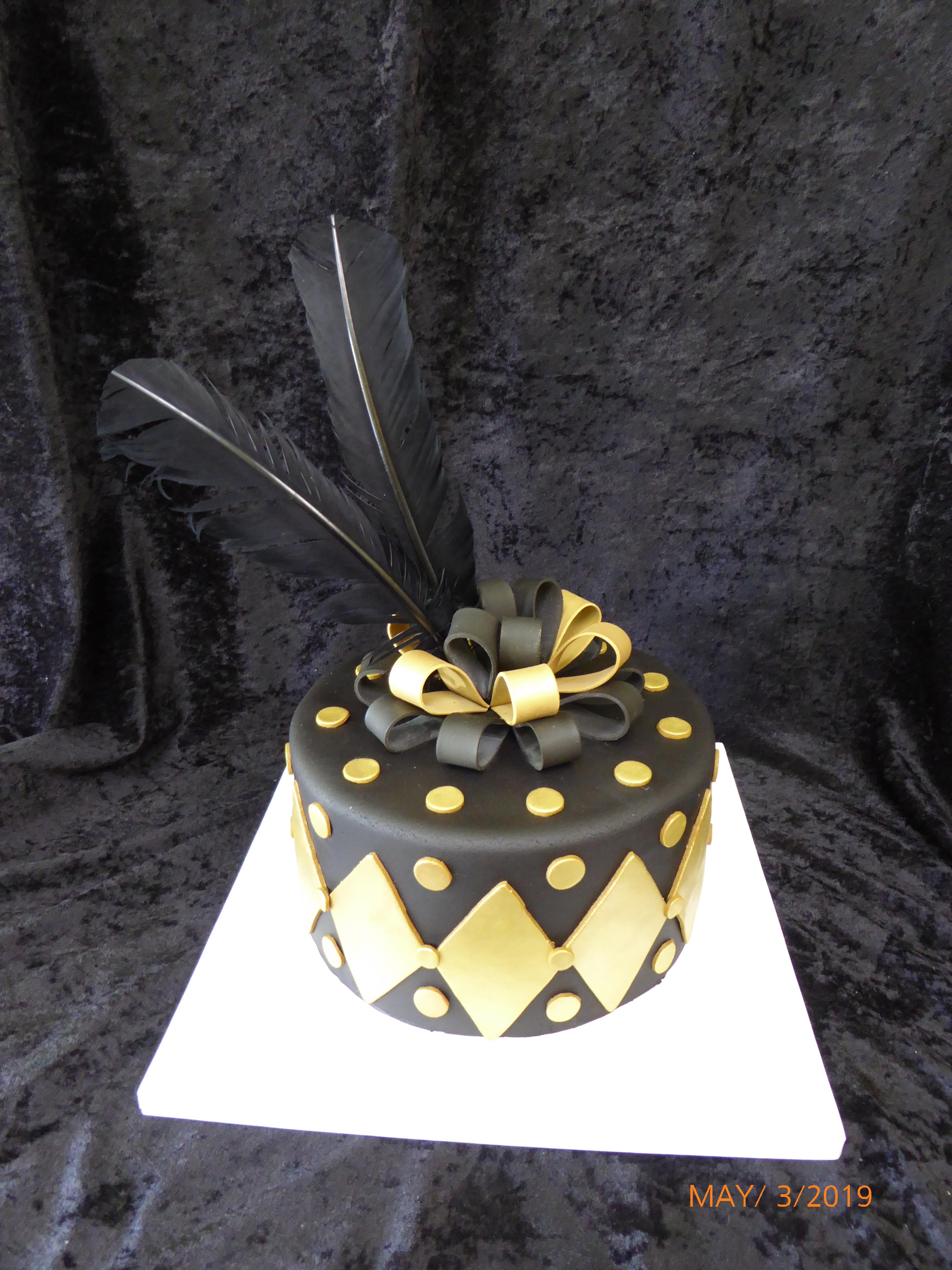 3348, birthday, diamond, diamonds, dot, dots, bow, bows, feather, feathers, black, gold,