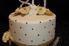 3249, 80th birthday, eightieth birthday, flower, flowers, silver, gold, white, black