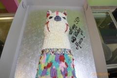 3253, 35th birthday, thirty fifth birthday, alpaca, llama, festive, mexican, peruvian, white, blue, purple, red, yellow, carved