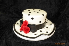 3107, birthday, hat, kentucky derby, royal ascot, polka dot, dots, flower, flowers, red, black, white