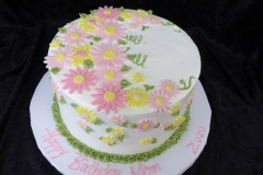 3116, birthday, flower, flowers, pink, yellow, green