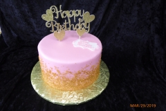 3235, birthday, pink, gold, topper, heart, hearts, sprinkles