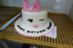 3255, birthday, wink, bow, bows, white, pink, black, brooch