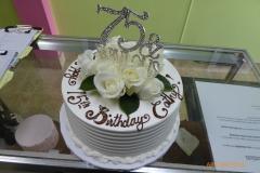 3319, 75th birthday, seventy fifth birthday, fabulous, flower, flowers, rose, roses, white, silver