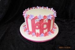 3349, 60th birthday, sixtieth birthday, stripe, stripes, flower, flowers, pink, red, white
