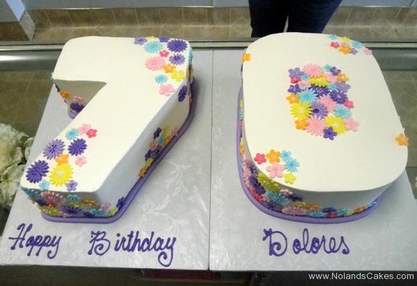 264, 70th birthday, seventieth birthday, carved, white, pastel, flower, flowers