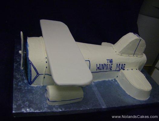 294, birthday, plane, airplane, the winnie mae, white, blue, carved