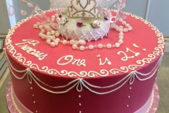 255, pink, crow, topper, tiara, white, piping, princess, 21, 21st birthday, bow, pink, ribbon, pearls, topper, crown,