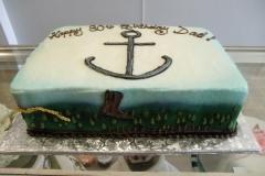 276, 80th birthday, eightieth birthday, cowboy, anchor, navy, boot, boots, blue, white, green