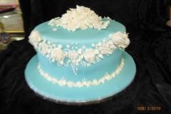 3122, bridal shower, white, blue, fancy