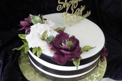 3125, bridal shower, flower, flowers, purple, white, gold, stripe, black