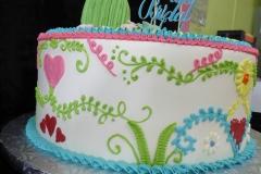 3360, bridal shower, embroidery, fiesta, yucatan, pink, green, blue, yellow, cactus, flower, flowers, heart, hearts
