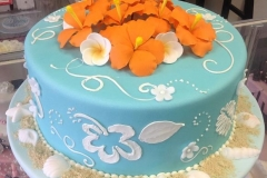 317, hawiian, hawaii, blue, orange, aloha, flowers, tropical, maui