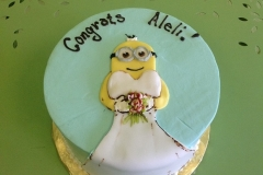 344, minions, dress, funny, blue, white, yellow, pixar, disney, bride