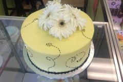 384, yellow, daisies, white, flowers, topper, bees, bumble bees