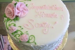 398, pink, roses, flowers, white, congratulations, floral, simple, piping, swirls