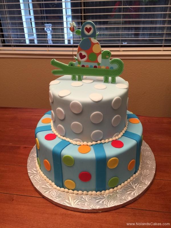 1971, birthday, alligator, dot, dots, blue, red, yellow, green, stripe, stripes, tiered