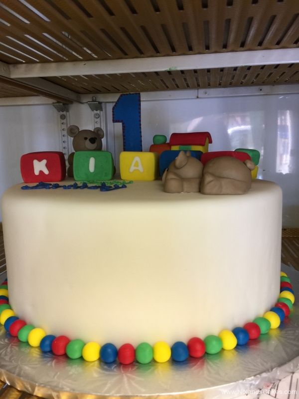 1977, first birthday, 1st birthday, block, blocks, bear, teddy, red, green, yellow, blue, white