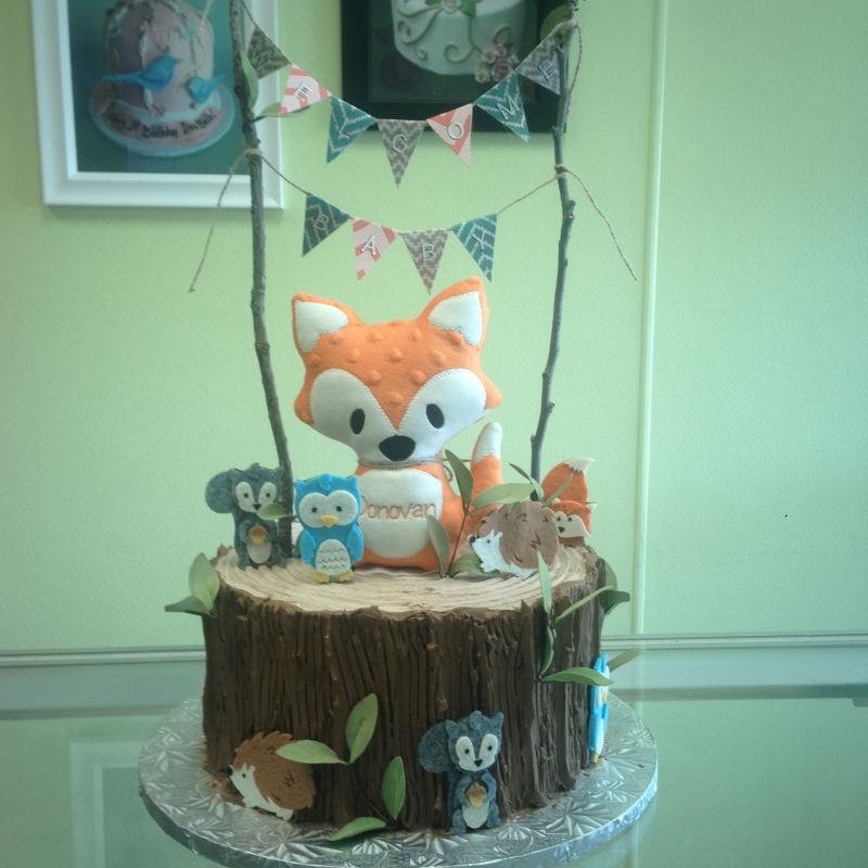 2008, birthday, woodland, creatures, fox, squirrel, owl, hedgehog, stick, sticks, wood, stump, trunk, tree