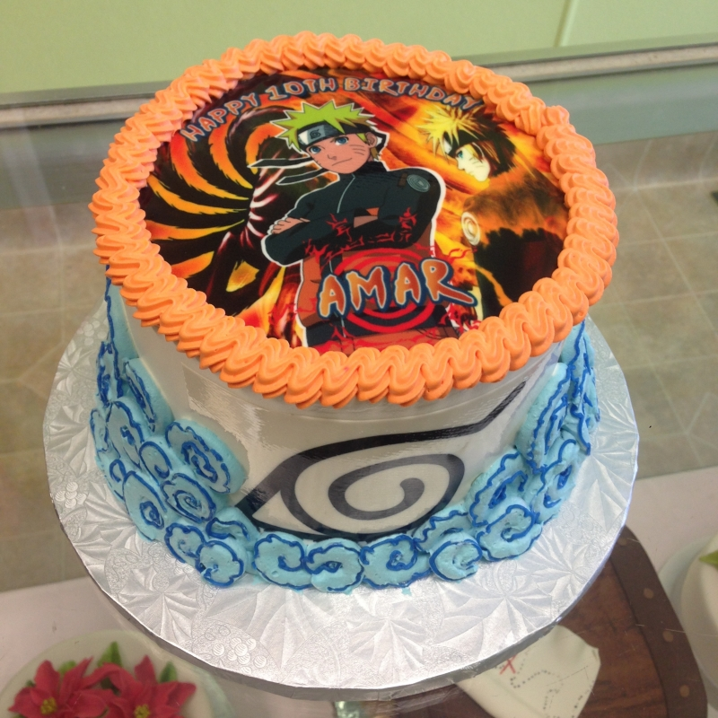 2030, birthday, yu-gi-oh, orange, blue, edible image