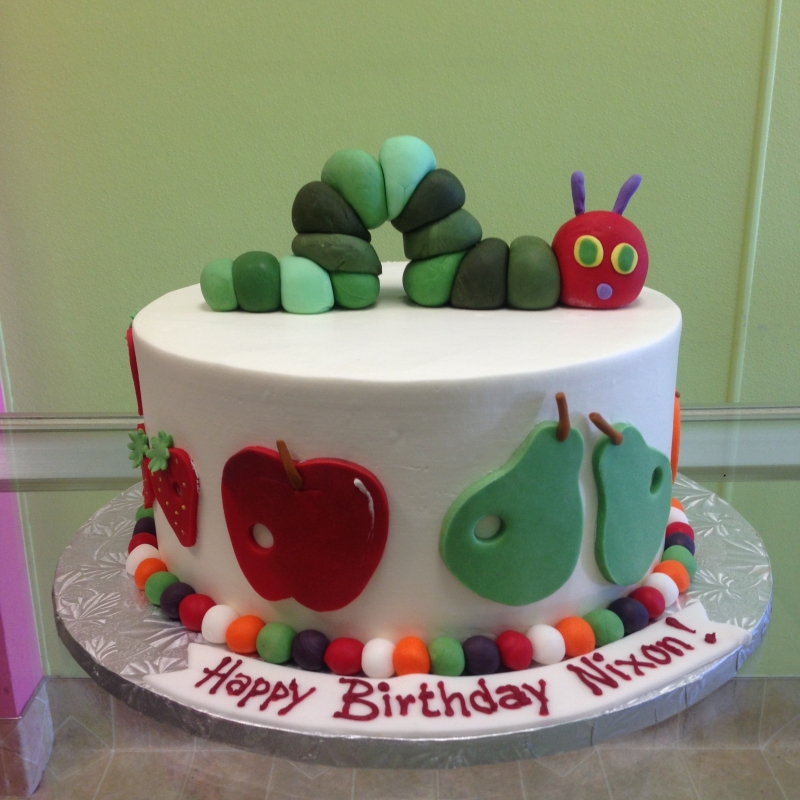 2032, birthday, the very hungry caterpillar, apple, pear, strawberry, green, red, white