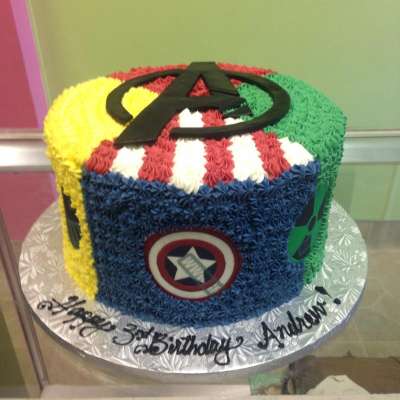 2040, 3rd birthday, third birthday, avengers, superhero, superheros, captain america, hulk, thor, ironman, blue, red, yellow, green, black, marvel