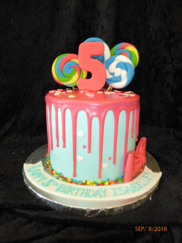 3260, 5th birthday, fifth birthday, drizzle, bow, bows, lollipop, lollipops, pink, swirl