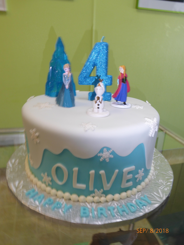 3262, 4th birthday, fourth birthday, frozen, elsa, ana, olaf, snow, snowflakes, snowflake, white, blue