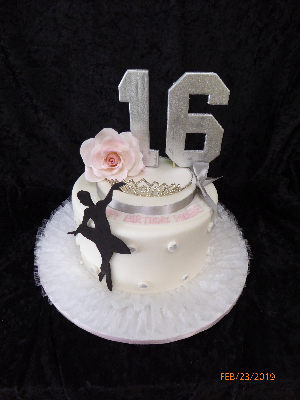 3165, 16th birthday, sixteenth birthday, sweet sixteen, ballet, ballerina, tiara, crown, white, pink