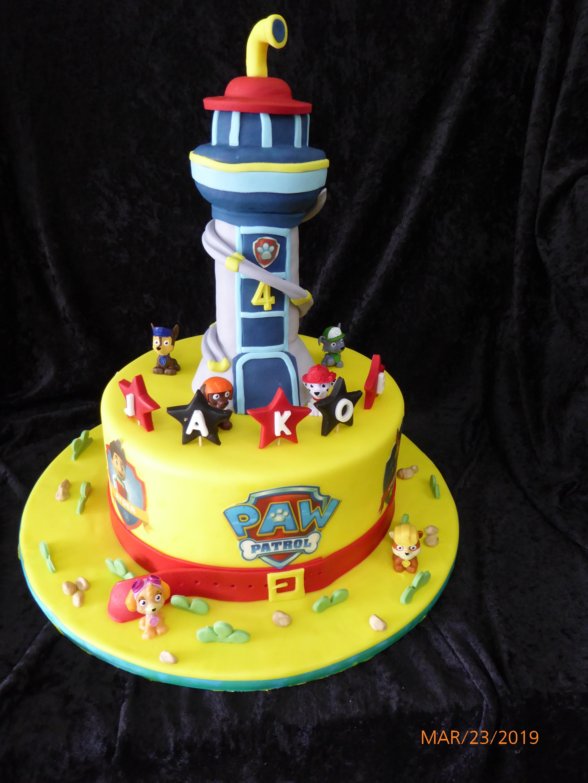 3182, 4th birthday, fourth birthday, paw patrol, marshal, rubble, rocky, zuma, skye, yellow, blue, figure, figures