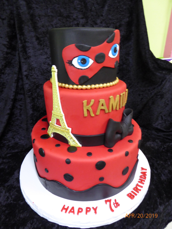 3323, 7th birthday, seventh birthday, red, black, paris, eiffle tower, mask, masque, bow, bows, dot, dots, gold