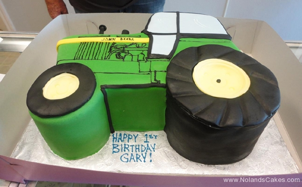 2057, first birthday, 1st birthday, john deer, tractor, green, yellow, wheel, wheels, tire, tires, carved