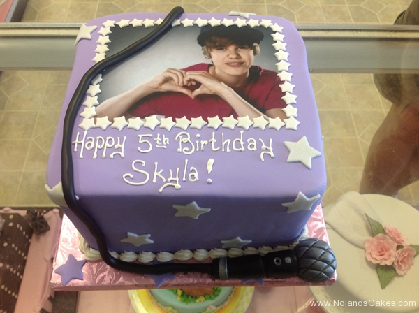 2059, 5th birthday, fifth birthday, justin bieber, star, stars, microphone, music, purple, edible image
