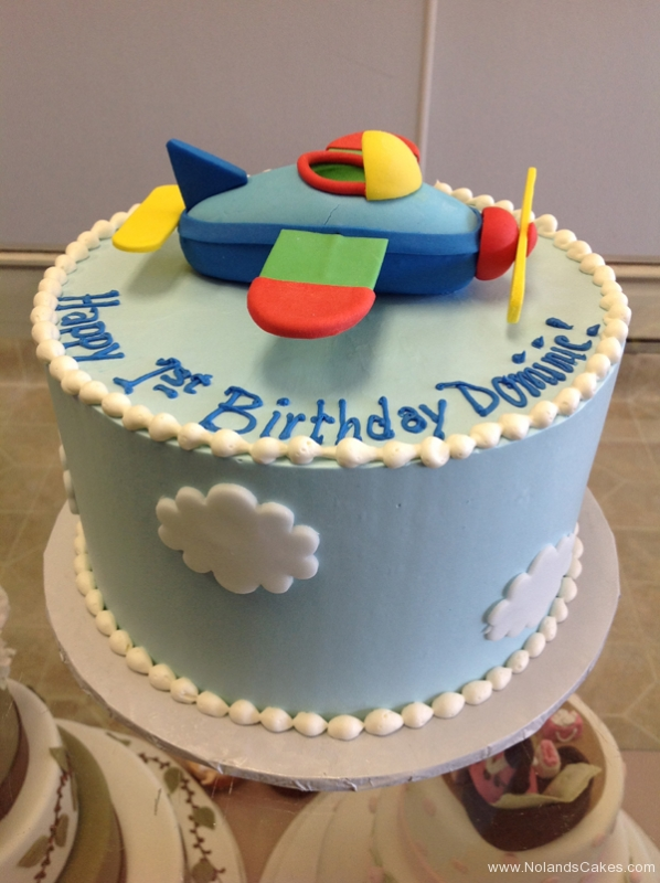 2064, first birthday, 1st birthday, plane, airplane, cloud, clouds, sky, blue, white, primary
