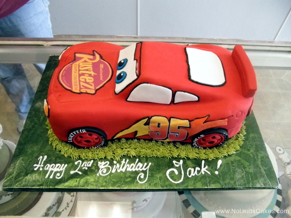 2093, 2nd birthday, second birthday,  lightning mcqueen, cars, car, red, race, racecar, carved, edible image