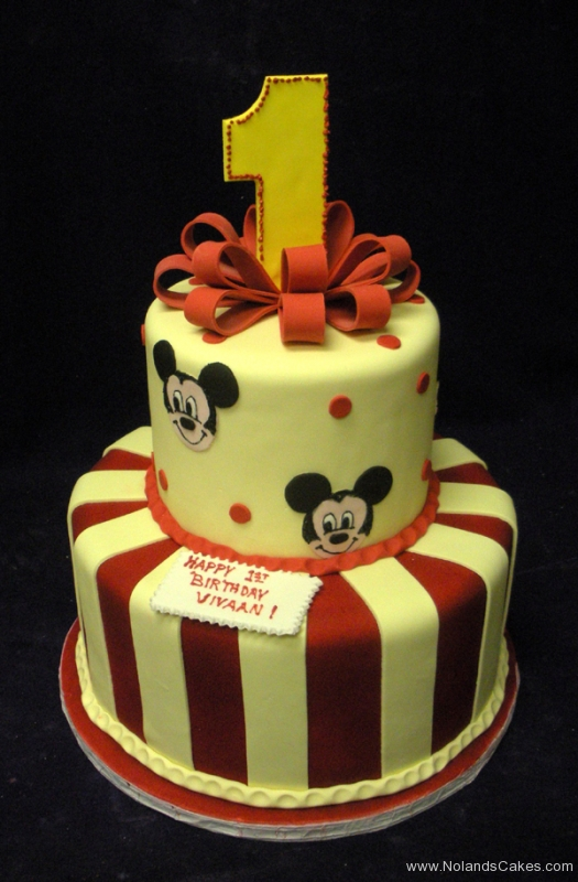 2150, first birthday, 1st birthday, disney, mickey mouse, mickey, yellow, red, stripe, bow, bows