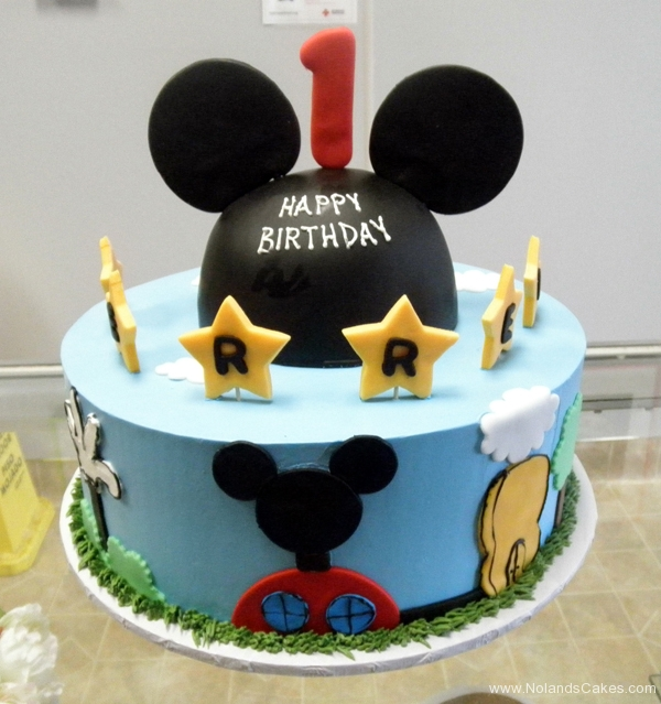 2144, first birthday, 1st birthday, mickey mouse, disney, ears, star, stars, mickey's playhouse, sky, clouds, blue, black