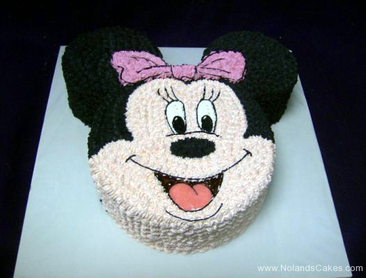 2173, birthday, minnie mouse, pink, white, black, disney, face, carved