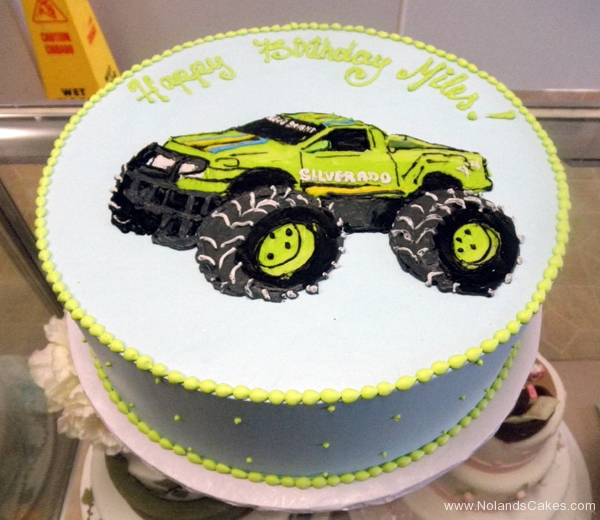 2195, birthday, truck, monster truck, green, silverado