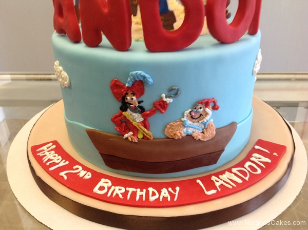 2220, second birthday, 2nd birthday, jake and the neverland pirates, captain hook, smee, palm tree, trees, water, ocean, izzy, cubby, jake, skully, blue, red, edible image