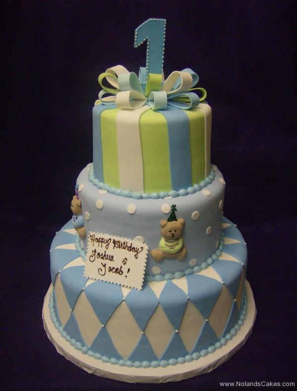 2241, first birthday, 1st birthday, stripe, stripes, dot, dots, diamond, diamonds, blue, green, white, bear, teddy bear, bears, bow, bows, tiered