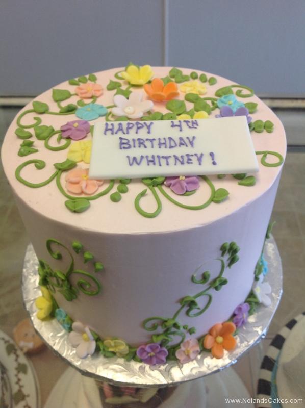 2259, 4th birthday, fourth birthday, flower, flowers, leaf, leaves, vine, vines, pastel
