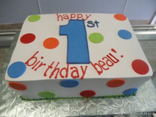 2284, 1st birthday, first birthday, white, blue, green, red, orange, dot, dots