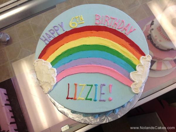2306, sixth birthday, 6th birthday, rainbow, cloud, clouds, sky, blue