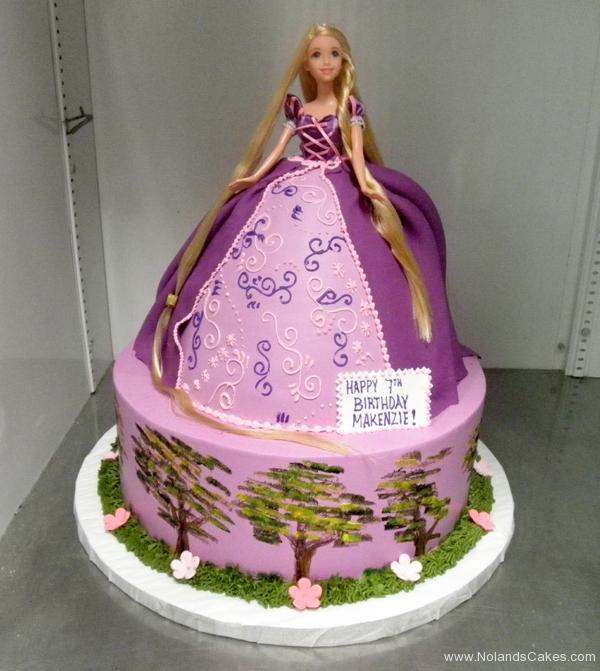 2308, 7th birthday, seventh birthday, rapunzel, tangled, disney princess, princesses, tree, purple, flower, flowers, dress, tiered, carved